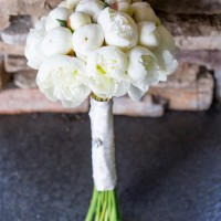White Wedding Bouquet - Captured by Solie Designs