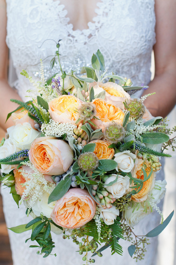 Peach Wine Country Wedding