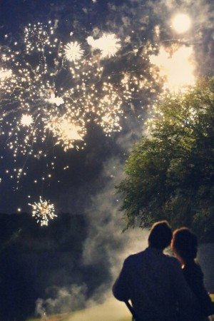 Wedding Fireworks - Kate Wenzel Photography