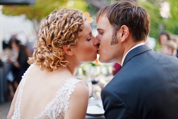 wedding kiss - CathyStancilPhotography
