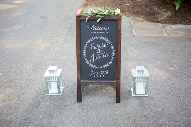 Wedding Sign - Captured by Solie Designs