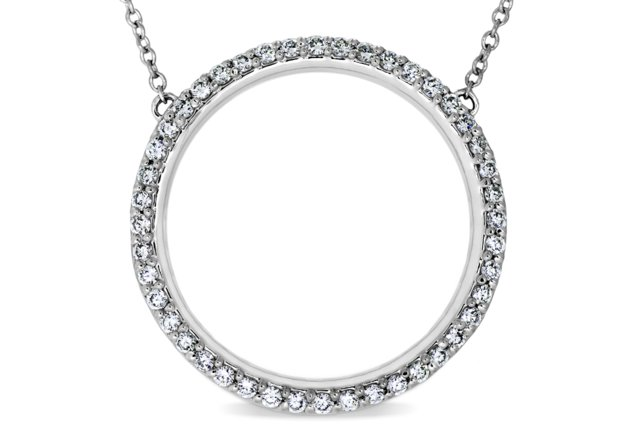 CIRCLE PENDANT WITH PAVÉ-SET DIAMONDS
