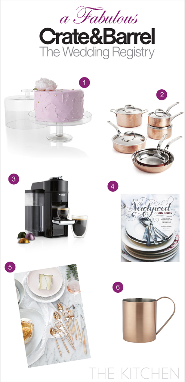 A Fabulous Wedding Registry with Crate and Barrel: The Kitchen