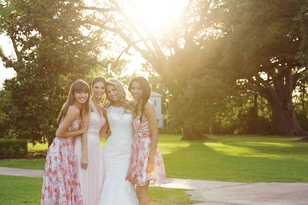 Allure Bridesmaids Floral Dresses