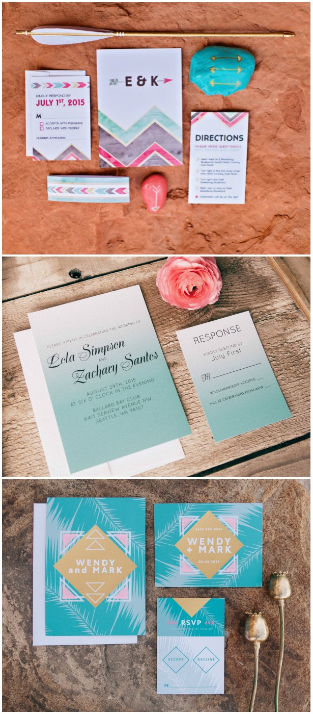boho chic wedding invitations