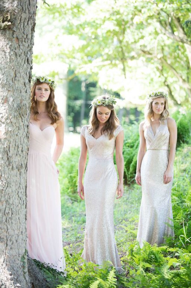 Bridesmaid Dress Trends with Bari Jay: Neutrals and Sequins