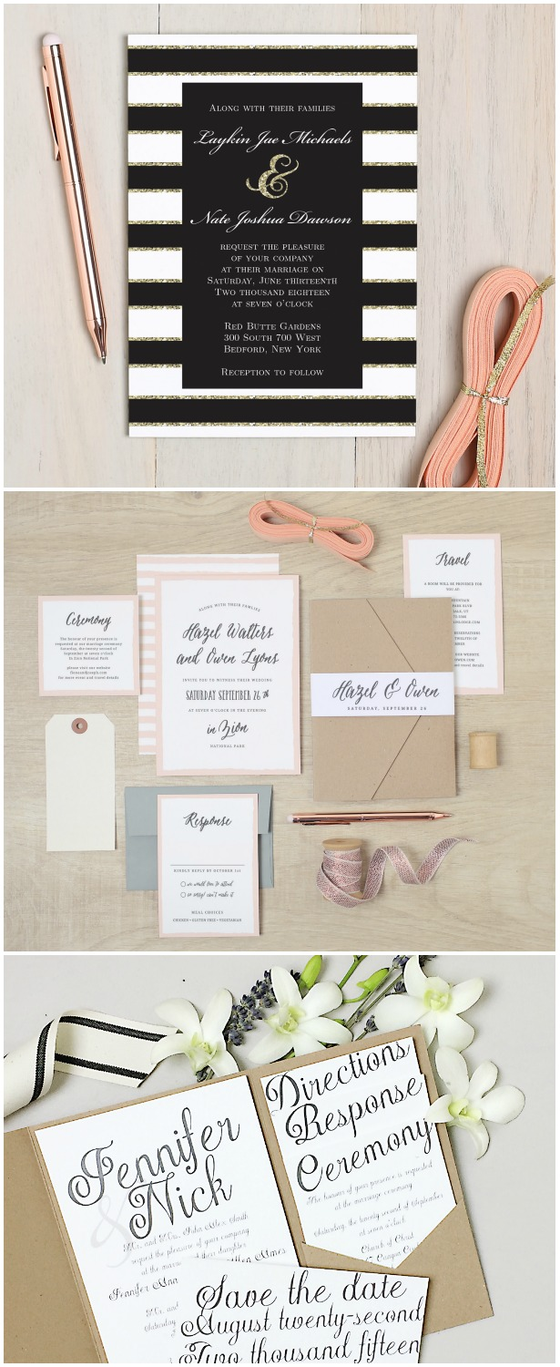 Not So Basic Wedding Stationery with Basic Invite