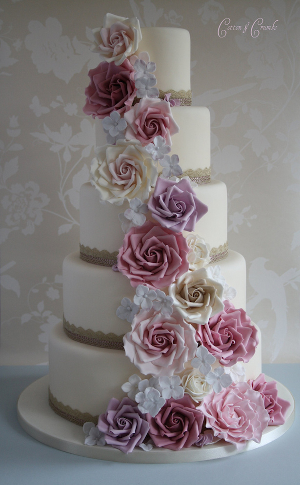Sugar Rose Cake Design : Wedding Cake Ideas: Sugar Flowers - Belle The Magazine