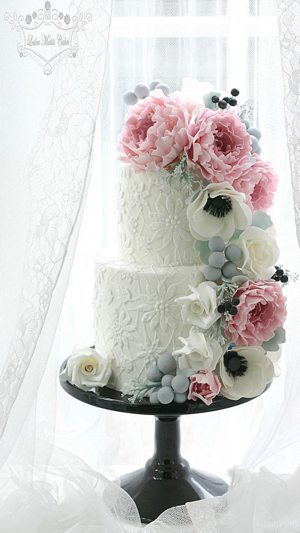 Sugar flowers for wedding cakes how to make