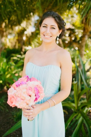 Aqua bridesmaid dress - Bluespark Photography