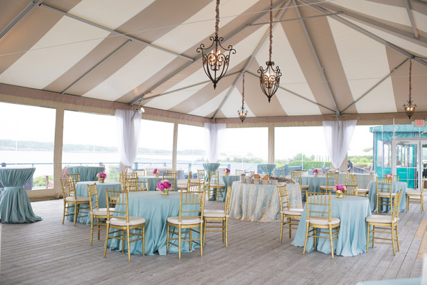 Aqua wedding table setup - Michael David Photography