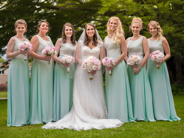 Mint bridesmaid dresses - Michael David Photography