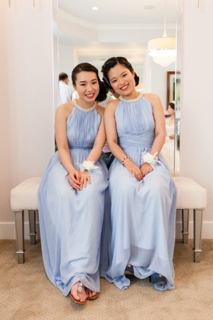 Baby blue bridesmaid dresses - Mike Adrian Photography