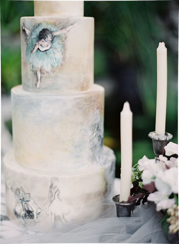 Ballet wedding cake - Melanie Gabrielle Photography
