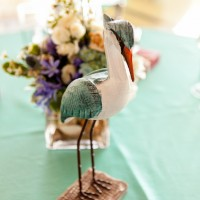 Beach wedding table details - Mike Adrian Photography