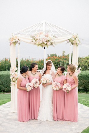 Pink mismatched Bridesmaid dresses -Melvin Gilbert Photography