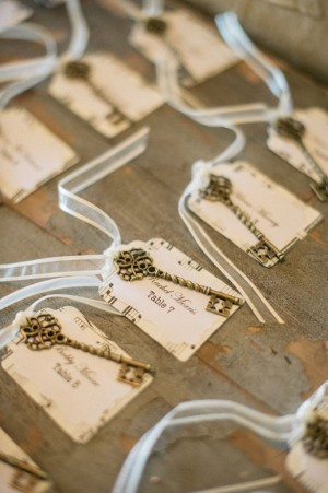 Vintage Key Escort Cards -Melvin Gilbert Photography