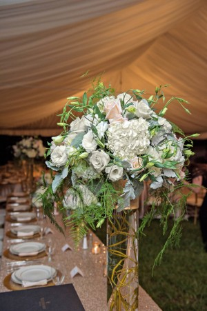 Floral wedding centerpiece - Kristen Weaver Photography