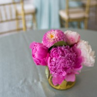 Fuchsia wedding centerpice - Michael David Photography