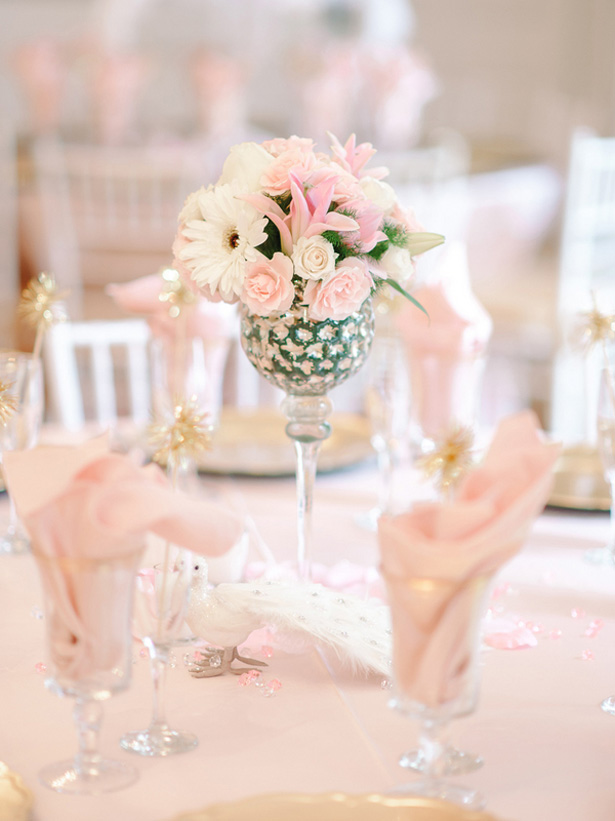 Light pink wedding table details - Pasha Belman Photography