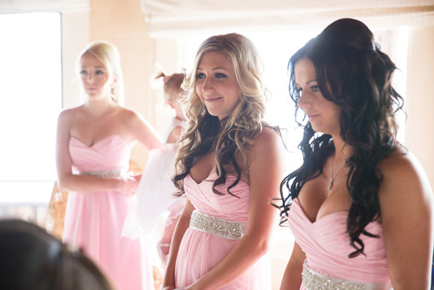 Pink bridesmaid dresses - Jeramie Lu Photography