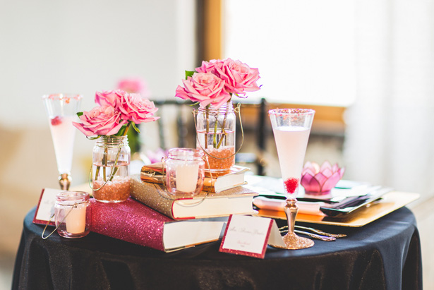 Pink wedding table details - Emily Joanne Wedding Films & Photography