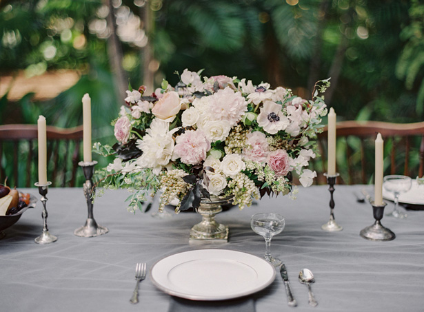 Powder pink wedding table details - Melanie Gabrielle Photography