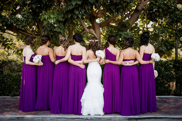 Purple bridesmaid dresses - William Innes Photography