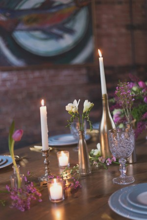 Rustic wedding table details - Kim Spath Photography