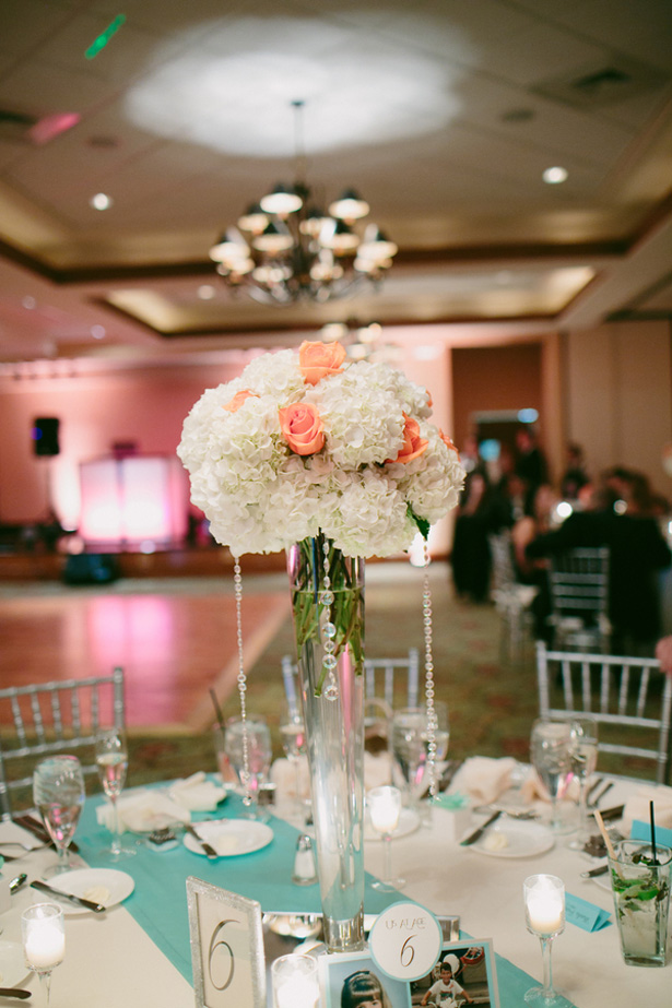 Wedding floral centerpiece - Bluespark Photography