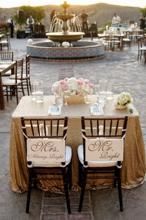 Wedding sweetheart table - William Innes Photography