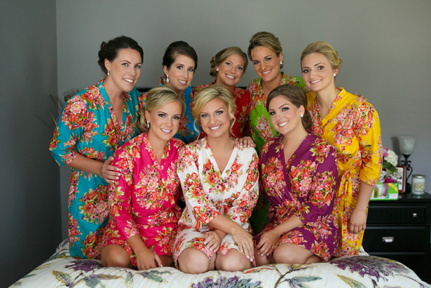 bridesmaid robes - Candace Jeffery Photography