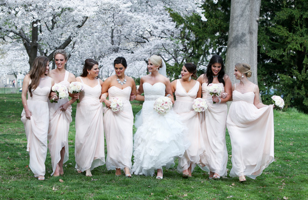 Powder pink bridesmaids dresses -Keith Cephus Photography