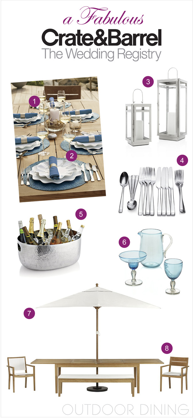 A Fabulous Wedding Registry with Crate and Barrel: Outdoor Dining