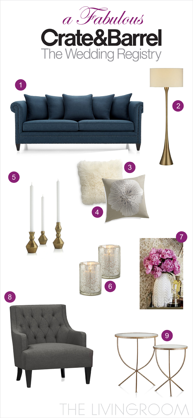 registry with crate and barrel the living room belle the magazine