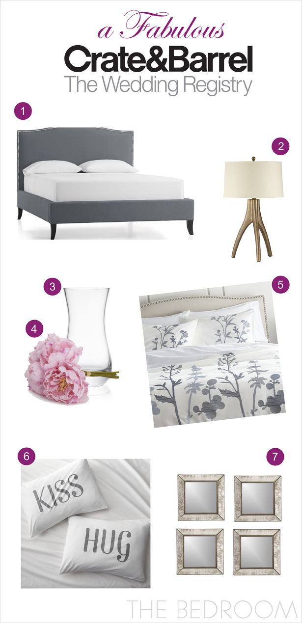 A Fabulous Wedding Registry with Crate and Barrel: The Bedroom