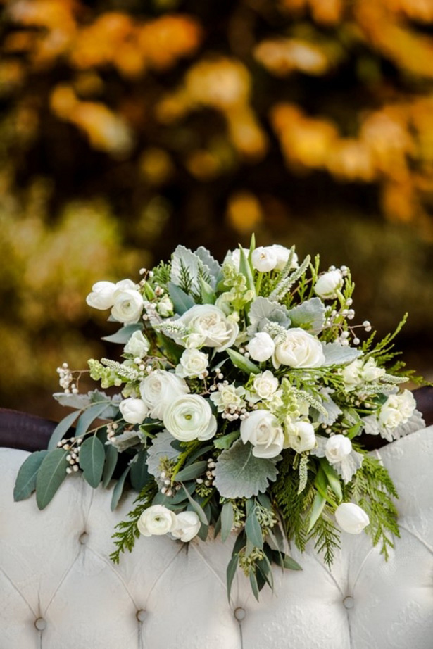 Winter wedding boquet - LLC Heather Mayer Photography