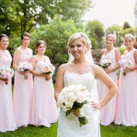 light pink bridesmaids dresses - Candace Jeffery Photography