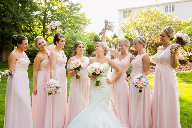 Light pink bridesmaid dresses - Candace Jeffery Photography