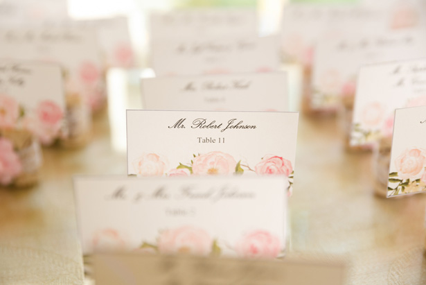 Escort cards - Candace Jeffery Photography