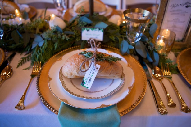 Wedding place setting - LLC Heather Mayer Photography