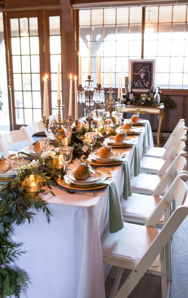 Winter Wedding Table - LLC Heather Mayer Photography