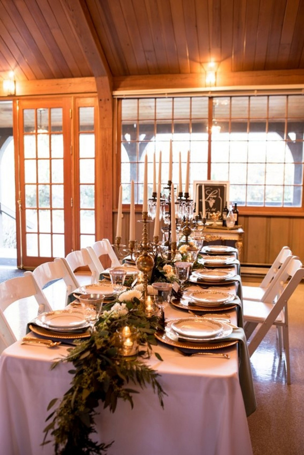 Winter wedding table decor - LLC Heather Mayer Photography