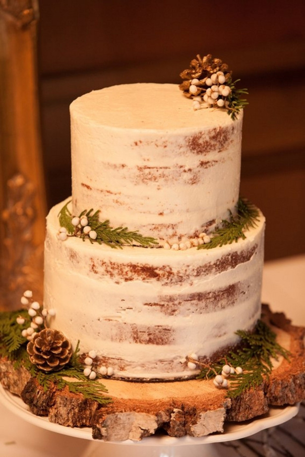 Winter wedding cake - LLC Heather Mayer Photography