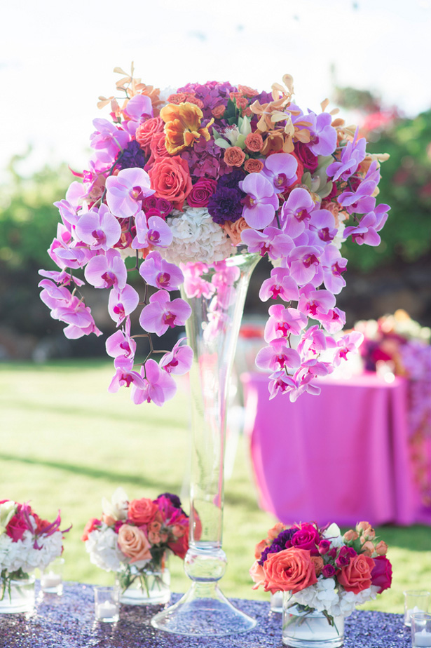 Purple Wedding Centerpieces Belle The Magazine