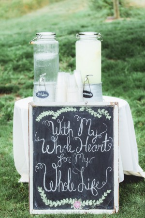 Wedding Drinking Station - Dan and Melissa