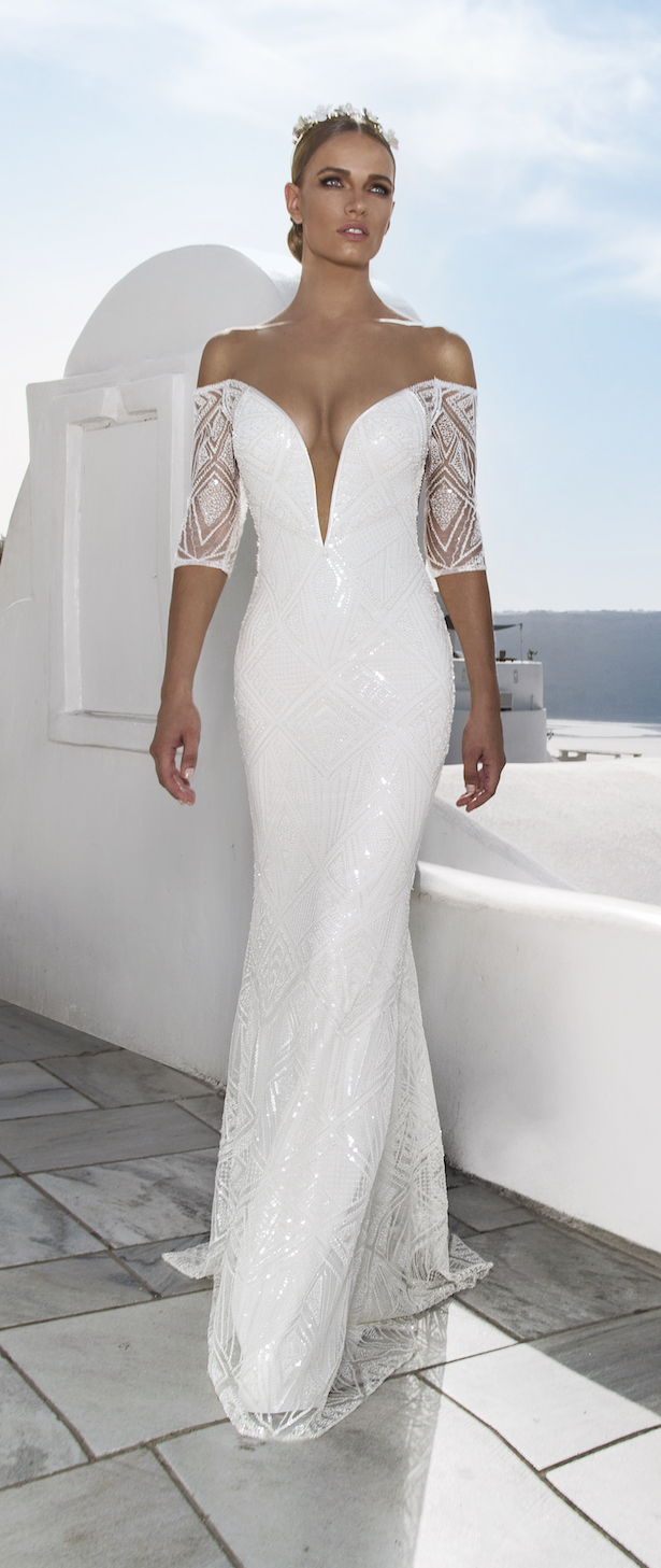 Julie Vino 2016 Santorini Collection Wedding Dress By