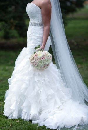 Ruffled wedding dress - Keith Cephus Photography