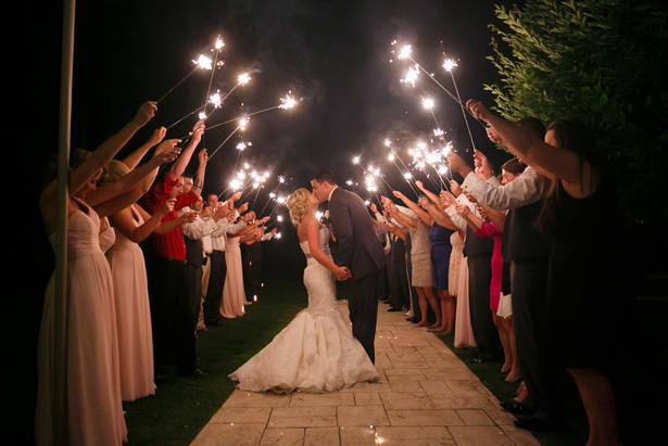 Wedding Sparklers- Candace Jeffery Photography