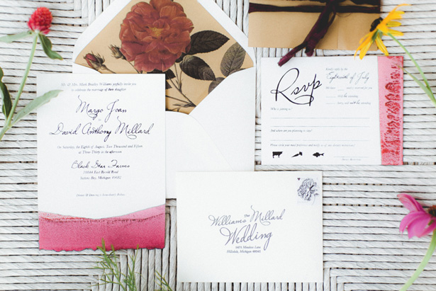 Floral Wedding Invitation - Dan and Melissa